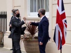 Foreign Secretary Dominic Raab (right) meets US secretary of state Antony Blinken (Jonathan Buckmaster/Daily Express)