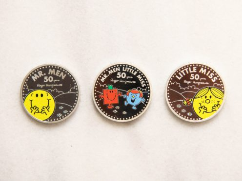 The Royal Mint's new coin series features Little Miss Sunshine and other Mr Men and Little Miss characters (Matt Crossick/PA)