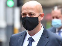 West Mercia Pc Benjamin Monk arriving at Birmingham Crown Court (Jacob King/PA)