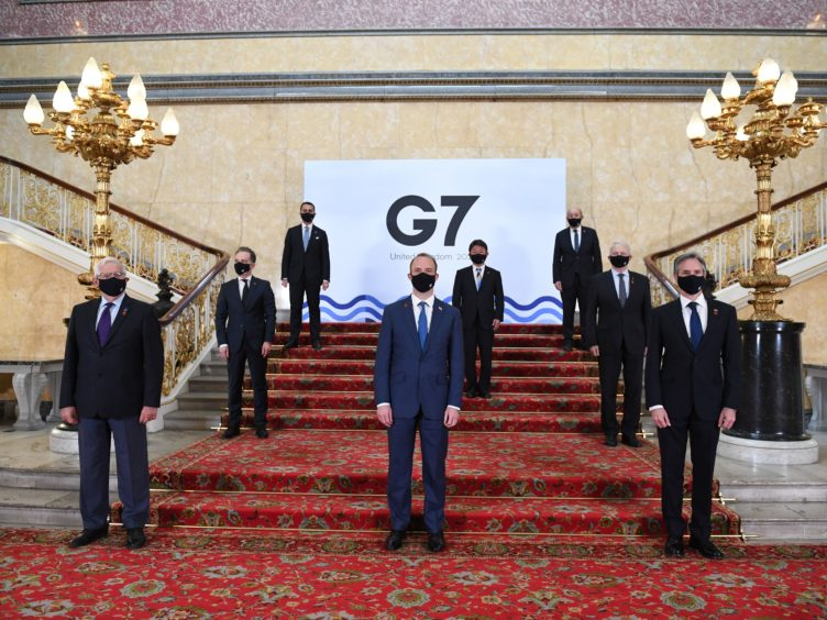 Foreign ministers from the G7 met in London (Stefan Rousseau/PA)