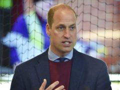 The Duke of Cambridge during a visit to Aston Villa's High Performance Centre at Bodymoor Heath, Warwickshire (Rui Vieira/PA)