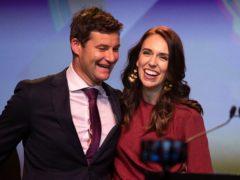 New Zealand's leader Jacinda Ardern and her partner Clarke Gayford (AP)