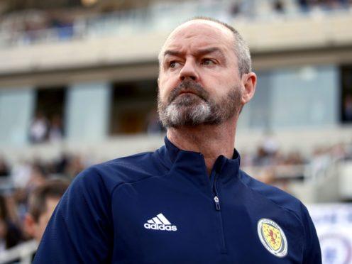 Steve Clarke gives his Scotland side a Euro target (Tom Goode/PA)