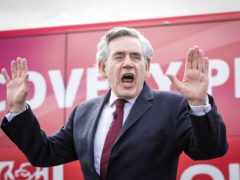 The former prime minister was addressing a drive in rally in Glasgow on Wednesday (Jane Barlow/PA)