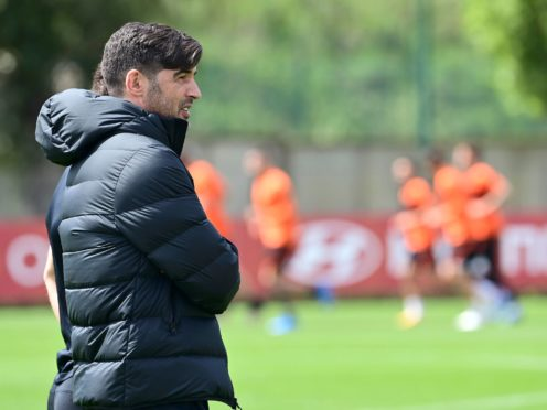 Roma boss Paulo Fonseca is being replaced by Jose Mourinho (Luciano Rossi/AP)