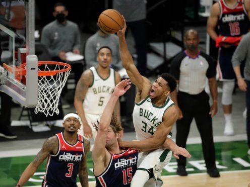 Milwaukee Bucks' Giannis Antetokounmpo scored 23 points (Aaron Gash/PA)