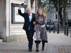 Prime Minister Boris Johnson and his fiancee Carrie Symonds (PA)