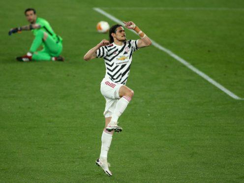 Edinson Cavani hit both of Manchester United's goals (Marco Iacobucci/PA)