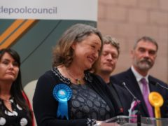 Conservative's Jill Mortimer is declared winner in the Hartlepool parliamentary by-election (Owen Humphreys/PA)