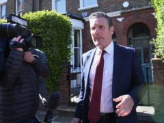 Labour leader Sir Keir Starmer leaving his north London home following the result in the Hartlepool parliamentary by-election (Stefan Rousseau/PA)