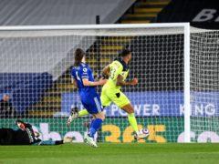 Callum Wilson scored twice in Newcastle's win at Leicester (Michael Regan/PA)