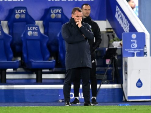 Brendan Rodgers' Leicester have slipped to fourth in the Premier League (Michael Regan/PA)