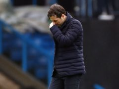 Ryan Mason lost his first league game in charge as Spurs' interim boss at Leeds (Jason Carnduff/PA)