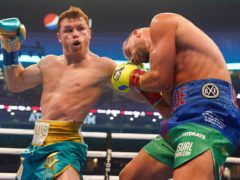 Saul 'Canelo' Alvarez was able to record another victory after Billy Joe Saunders was unable to continue following the eighth round (Jeffrey McWhorter/AP/PA)
