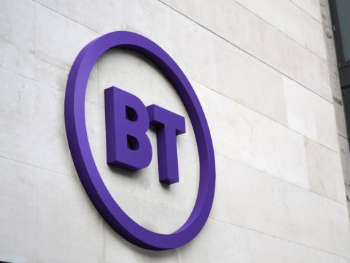 BT said profit and revenue fell in the last 12 months (BT/PA)