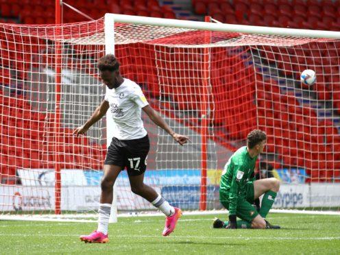 Ricky Jade-Jones found the net for Peterborough (Tim Goode/PA)