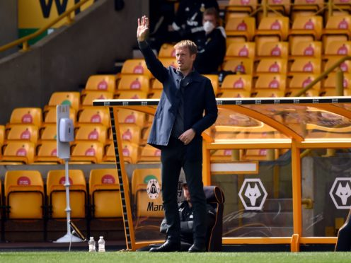 Graham Potter was left frustrated after Brighton lost the lead at Wolves (Rui Vieira/PA)