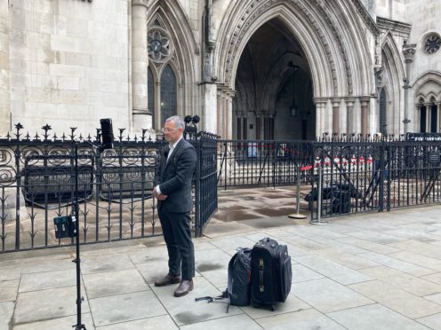 Tim Crosland speaks to the media outside the Royal Courts of Justice (Sam Tobin/PA)