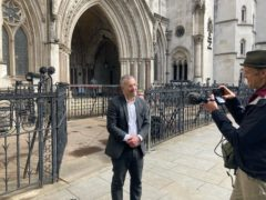 Tim Crosland outside the Royal Courts of Justice (Sam Tobin/PA)