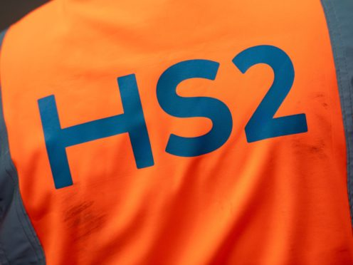A worker at HS2's Curzon Street site in Birmingham. (Jacob King/PA Images)