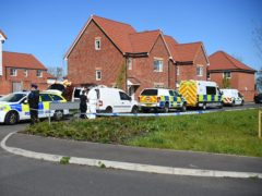 Forensic officers in Aylesham, Kent (Kirsty O'Connor/PA)