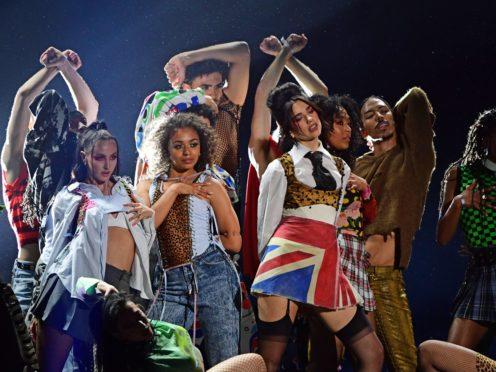 Dua Lipa performs during the Brit Awards 2021 (Ian West/PA)