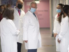 The Prince of Wales during a visit to the the Breast Cancer Now Toby Robins Research Centre (Eddie Mulholland/The Daily Telegraph/PA)
