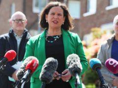 Sinn Fein leader Mary Lou McDonald speaks to the media in Belfast, (Brian Lawless/PA)