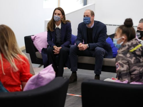 The Duke and Duchess of Cambridge during a visit to Base25 in Wolverhampton (Molly Darlington/PA)