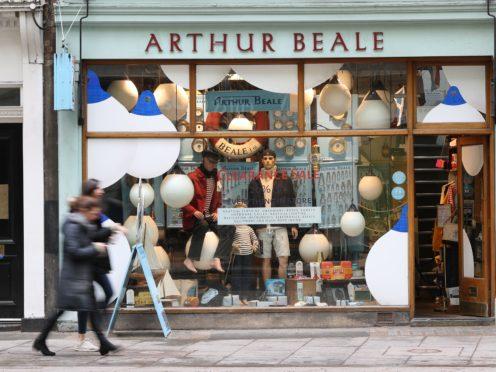 The Arthur Beale shop on Shaftesbury Avenue (Jonathan Brady/PA)