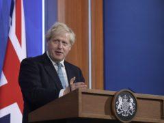 Prime Minister Boris Johnson during a media briefing(Matt Dunham/PA)