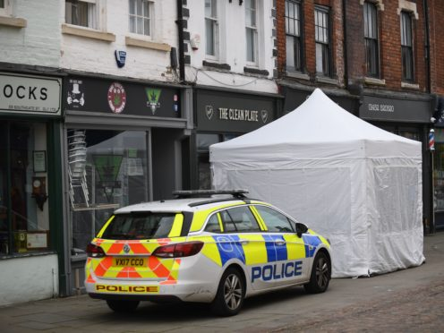 Police activity at The Clean Plate cafe in Southgate Street, Gloucester (Joe Giddens/PA)