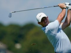 Rory McIlroy watches his tee shot on the 15th hole during a practice round at Kiawah Island (Matt York/AP)
