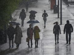 Strong winds and heavy rain are forecast for the first weekend following the relaxation of Covid restrictions (Yui Mok/PA)