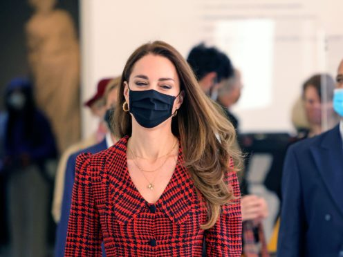 The Duchess of Cambridge at the V&A museum in London (Jonathan Buckmaster/Daily Express/PA)