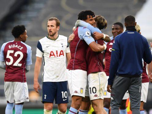 Harry Kane had a bad day as Tottenham lost at home to Aston Villa (Daniel Leal-Olivas/PA)