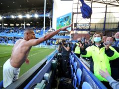 Match-winner Richarlison tossed his shirt into the crowd after Everton's win over Wolves (Peter Byrne/PA)