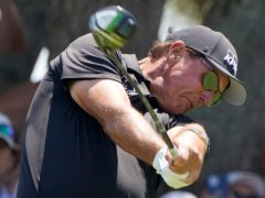 Phil Mickelson shared the lead after day two of the US PGA Championship (Chris Carlson/AP)