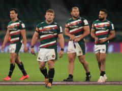 Tom Youngs shows his disappointment after Leicester Tigers' defeat in the European Challenge Cup (Mike Egerton/PA)