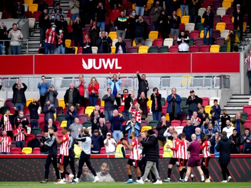 Brentford fans were able to witness Saturday's 3-1 win over Bournemouth (John Walton/PA)