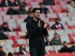 Mikel Arteta wants Arsenal to take a step forward next season (Neil Hall/PA)