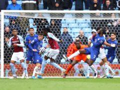 Aston Villa's Bertrand Traore opened the scoring against Chelsea. (Richard Heathcote/PA)