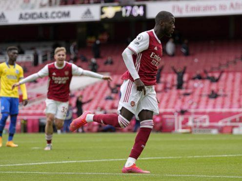 Nicolas Pepe scored twice for Arsenal (Alastair Grant/PA)
