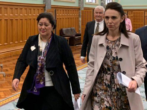 Cindy Kiro and Jacinda Ardern (AP)