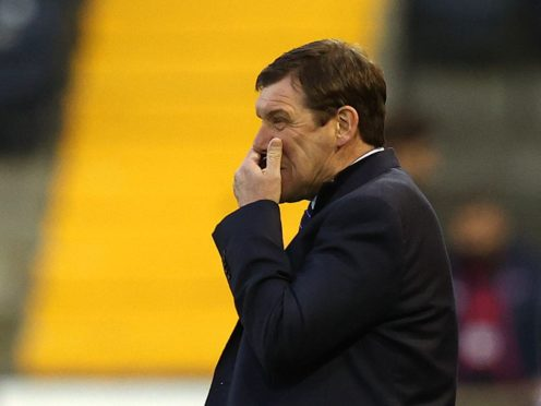 Tommy Wright's Kilmarnock have been relegated (Jeff Holmes/PA)