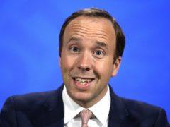 Health Secretary Matt Hancock during a media briefing in Downing Street (Matt Dunham/PA)