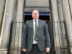 New UUP leader Doug Beattie outside Ulster Unionist headquarters on the Belmont Road, Belfast (David Young/PA)