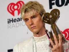 Machine Gun Kelly was among the winners at the iHeartRadio Music Awards (AP Photo/Chris Pizzello)