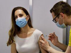 The Duchess of Cambridge receiving her coronavirus vaccine at London's Science Museum (@KensingtonRoyal)