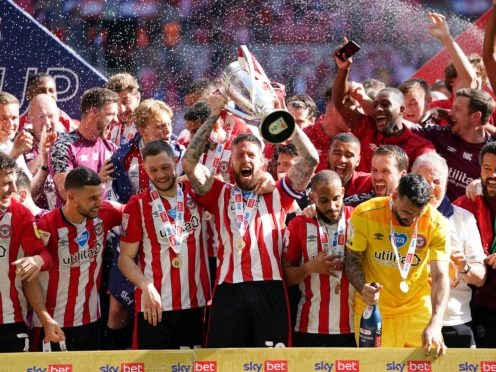 Brentford have been promoted after winning the play-off final (Mike Egerton/PA)